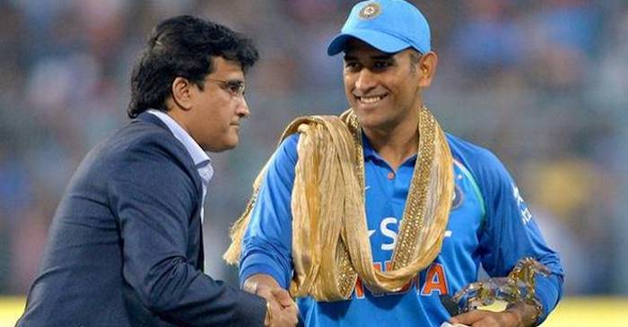 Sourav and Ms Dhoni