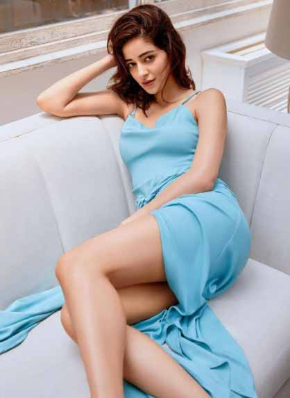 Ananya Pandey nice blue dress