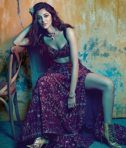 Ananya Pandey flaunting her legs and cleavage