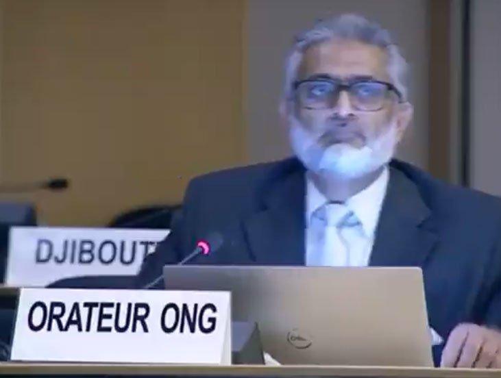 Sajjad Raja in UNHRC against Pakistan