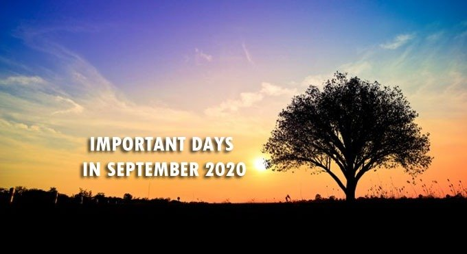 Important National and International Days In September 2020