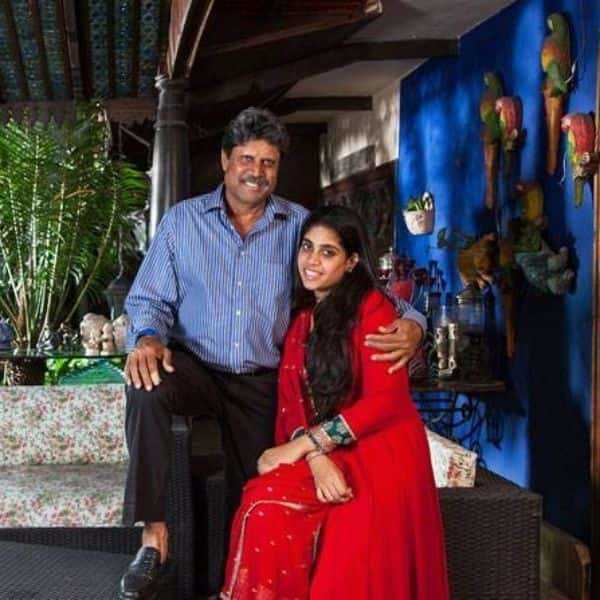 Amiya Dev with his father Kapil Dev