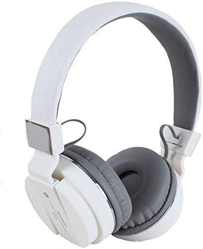 Eduway Wireless/Bluetooth Headphone SH-12, Crystal Clear Sound, Deep Bass, Support : FM, SD Card Slot, BluetoothWith Music and Calling Controls, Adjustable Pads Acc. to Small/Big Head (White)