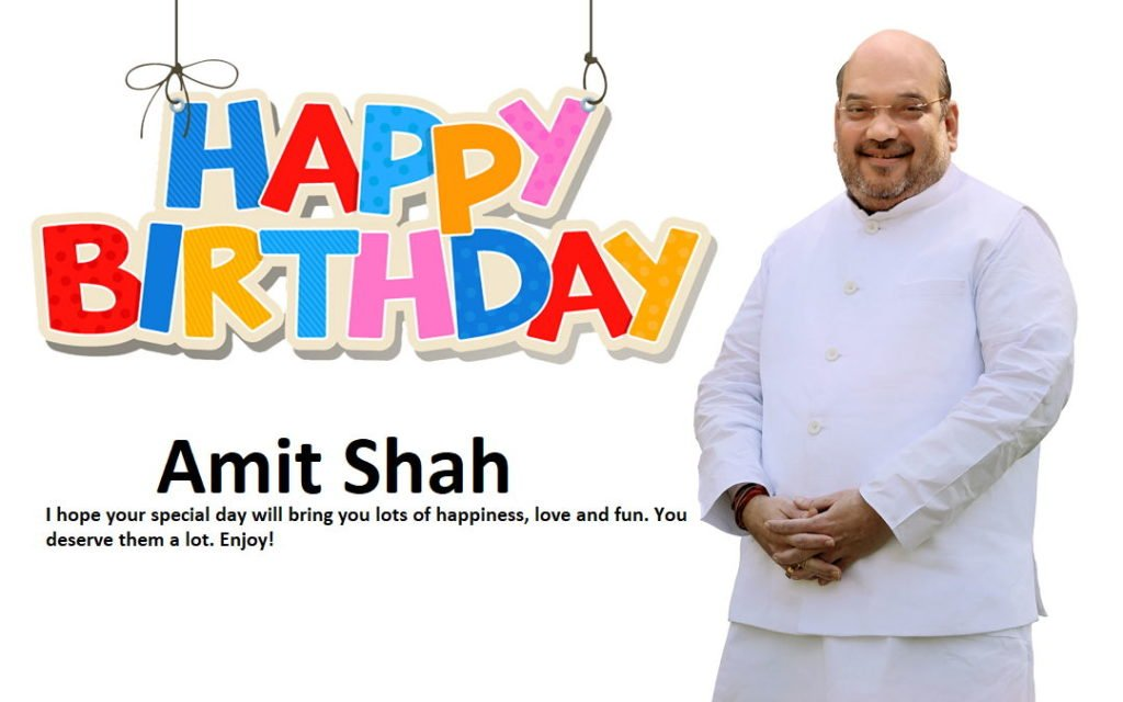 Happy Birthday Amit Shah