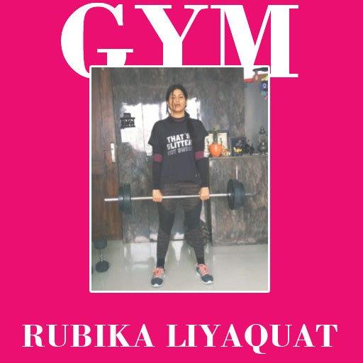 Rubika Liyaquat hot pic in Gym