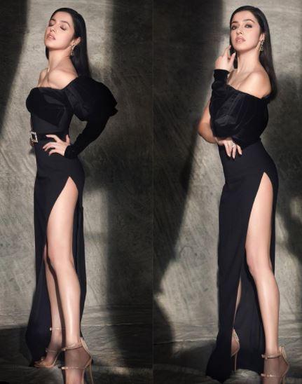 Divya black dress looks