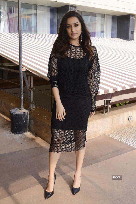 Shraddha Kapoor Hot black corporate look