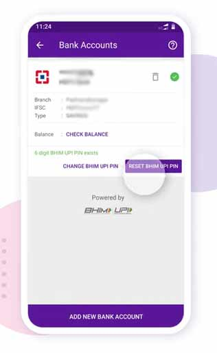 upi pin change in PhonePe