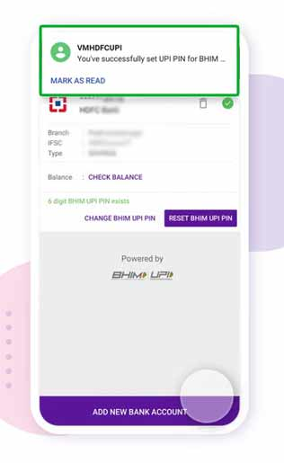 Upi Pin changes successfully in phonepe