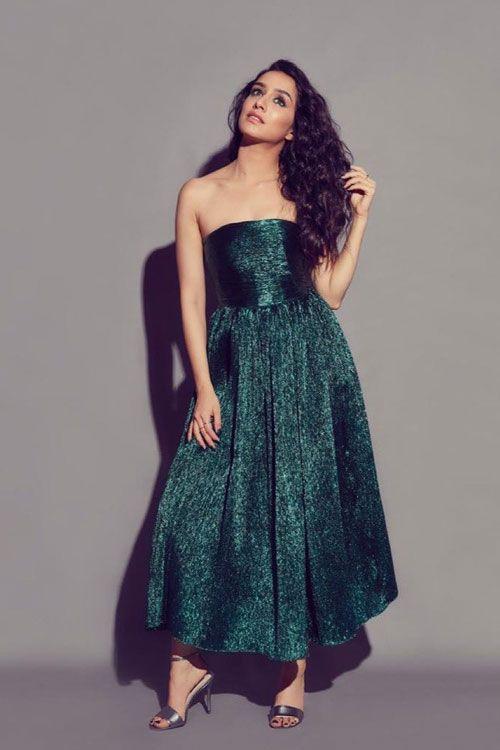 Shraddha Kapoor Green Festive Look