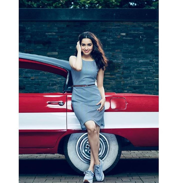 Shraddha Kapoor Hot pic beside hot red car