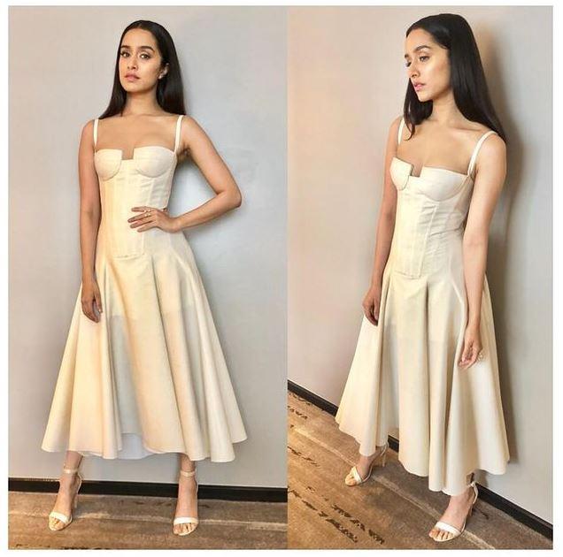 Shraddha Kapoor in white dress pic