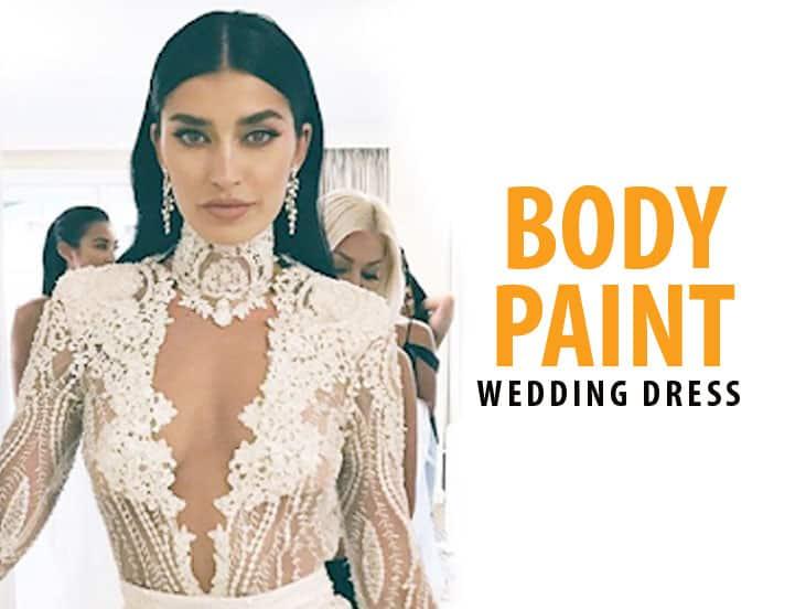 Body Paint Wedding Dress Ideas
