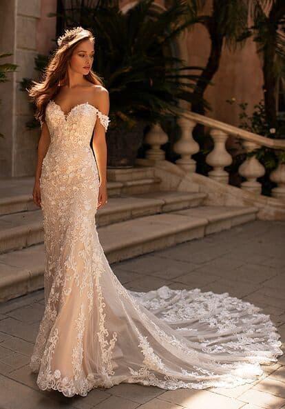 Lace Off the Shoulder Wedding Dresses