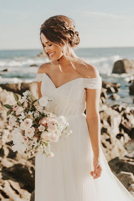 Off the Shoulder Wedding Dress 01 Bridal Gown
