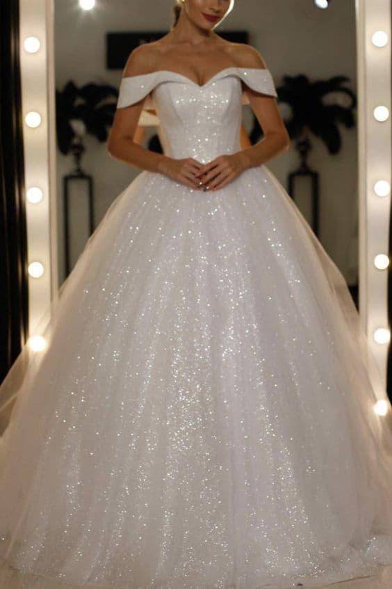Princess off Shoulder Wedding dress