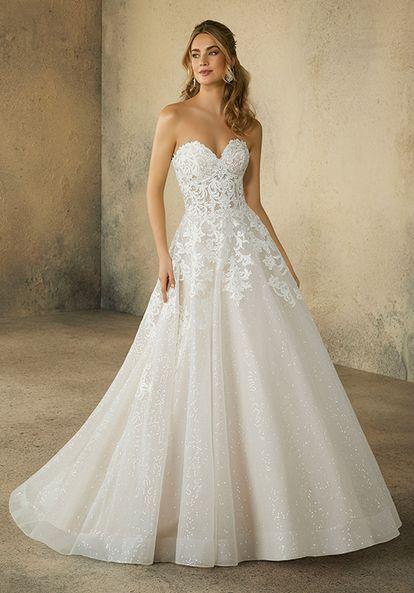 sweetheart off shoulder wedding dresses