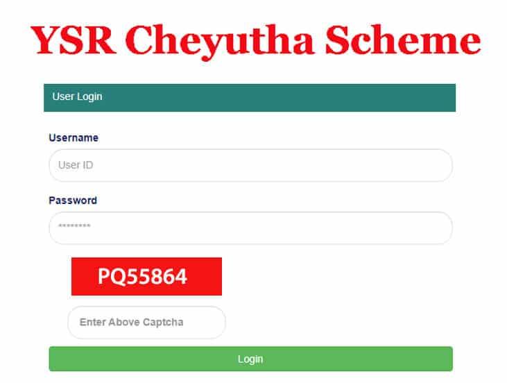 YSR Cheyutha Scheme 2021 apply online