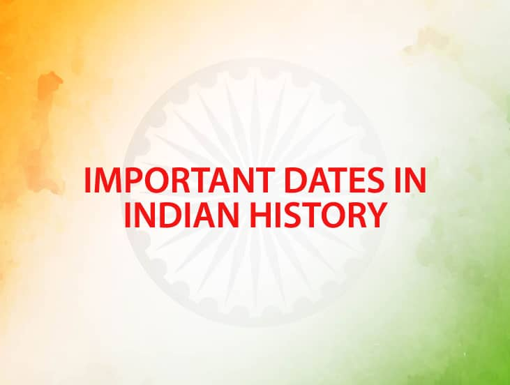 important dates in Indian history